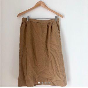 Vtg 💯 camel hair high waisted skirt